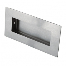 Steelworx Rectangular Flush Pull Handle - Various Steel Finishes