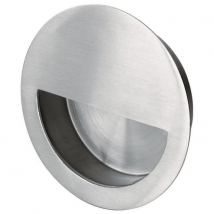 Steelworx Semi Circular Flush Pull Handle - 90mm Diameter - Various Steel Finishes
