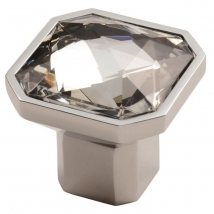 Square Crystal Knob Handle - Various Sizes and Finishes