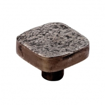 Dimpled Effect Square Knob - 32mm - Pewter