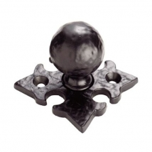 Carlisle Hammered Ball Knob Handle on Backplate
