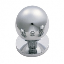Carlisle Ball Knob Handle - Polished Chrome - Various Sizes