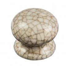 Carlisle Porcelain Knob - Ivory Crackle Glaze