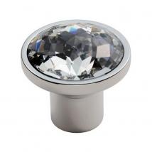 Carlisle Round Crystal Knob - Polished Chrome