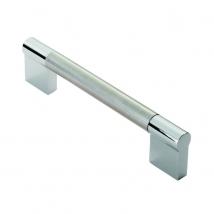13mm Diameter Keyhole Bar Handle - Satin Nickel with Polished Chrome Finish
