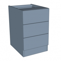 Zurfiz 3 Drawer Bedside Cabinet - 640mm High