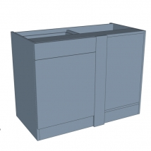 Zurfiz Drawerline Corner Blank Bedroom Cabinet