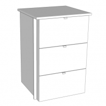 Internal 3 Drawer Chest - Carcass Colour Suits Bella, Valore and Zurfiz Wardrobes
