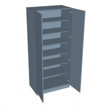 Zurfiz Double Door Wardrobe - Shelved - 2260mm High