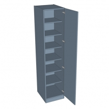 Zurfiz Single Door Wardrobe - Shelved - 2260mm High