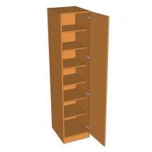 Valore Single Door Wardrobe - Shelved - 2260mm High