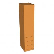 Valore Single Door Linen Press Wardrobe 2260mm High