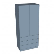 Zurfiz Double Door Linen Press Wardrobe 2260mm High
