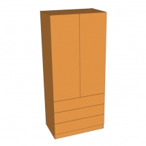 Valore Double Door Linen Press Wardrobe 2260mm High