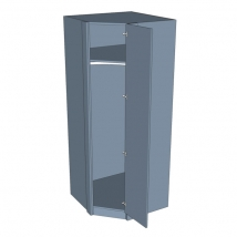Zurfiz Corner Diagonal Wardrobe 2260mm High