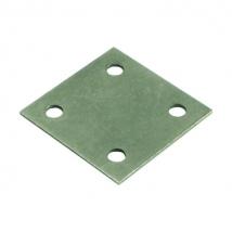 HAFELE Square Connecting Plate, Screw Fixing, Galvanized Steel