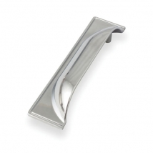 Deco Cup Handle - Bright Chrome Finish - 96mm Hole Distance