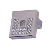 Carron Crystal Knobs & Handles - Bright Chrome with Crystal
