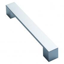 Flat Bar Handle - Satin Chrome