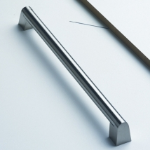 Angled Boss Bar Handle - Stainless Steel Finish