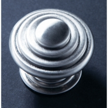 35mm Stepped Knob Handle - Satin Chrome Finish