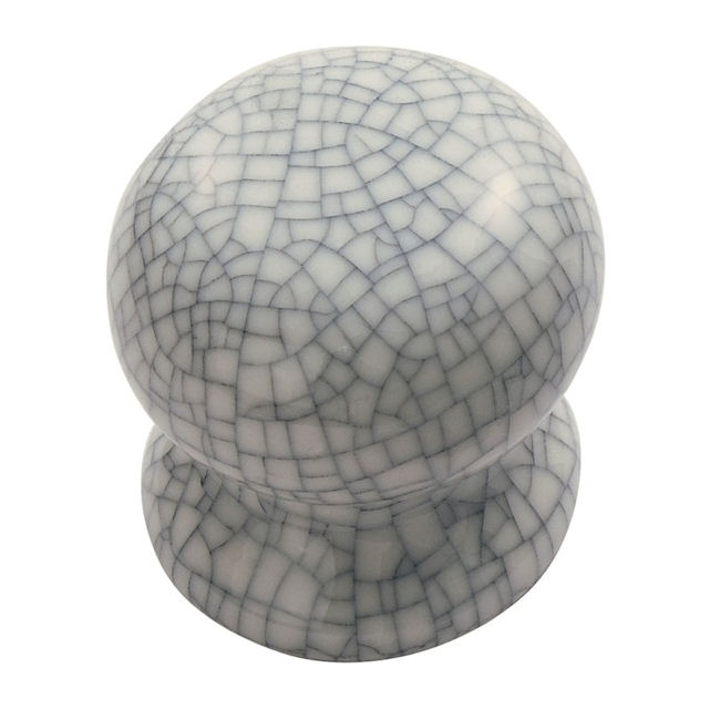 Carlisle Porcelain Knob - Midnight Blue Crackle Glaze