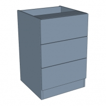 Zurfiz Bedroom Drawer Chest 3 Drawer - 760mm High