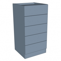 Zurfiz Bedroom Drawer Chest 5 Drawer - 1000mm High